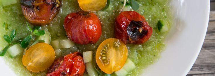 Sungold tomato & Cool Cucumber Gazpacho - Mario Batali