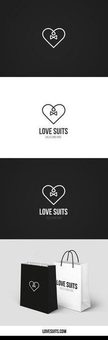 """Design a beautiful, masculine logo for """"Love Suits"""", my tuxedo store :) by avantgard"""
