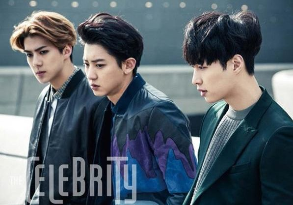 Sehun, Chanyeol and Lay | [SCAN] The Celebrity Magazine January 2015 Issue