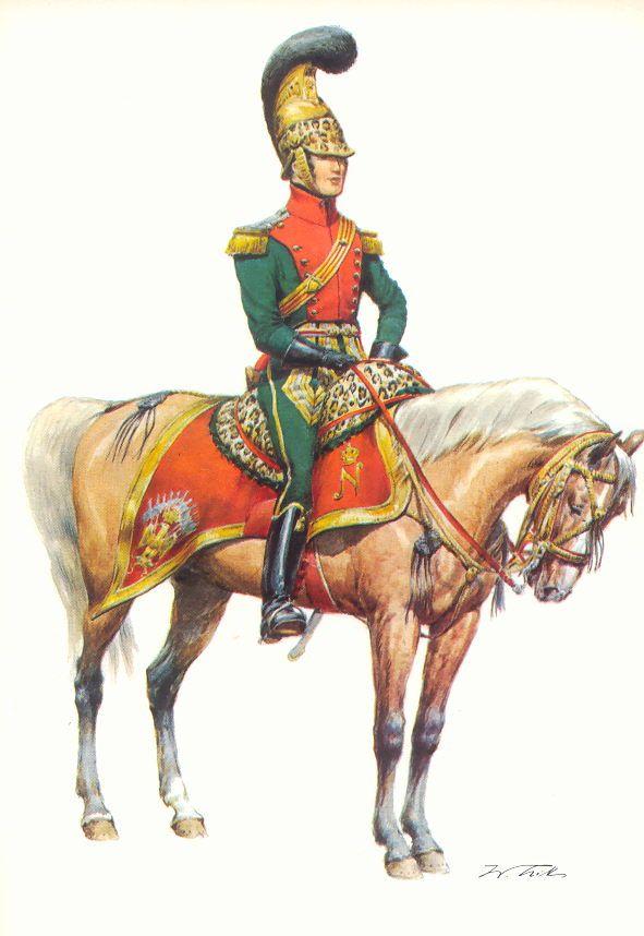 Illustrateurs - Tritt W. Armeé de France 1720-1814 - Les costumes militaires -1811-1815 - 6. Chevauléger-Lancier