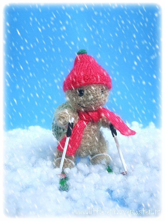 Купить черепашка Бориска-лыжник - оливковый, черепаха, черепашка, лыжи, лыжник…