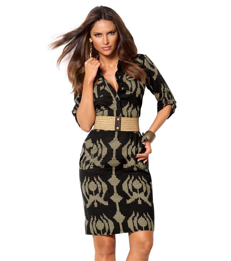 Vestido mujer manga corta estampado