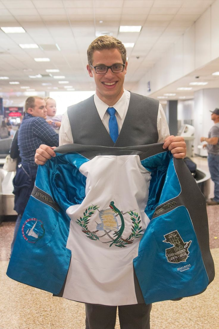 Missionary suit with Guatemala flag sewn into it. Sweet