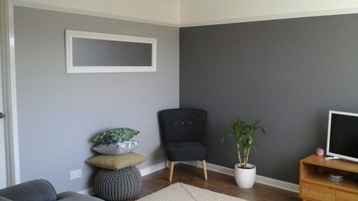 Grey living room .Dulux Urban Obsession and Chic Shadow.