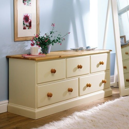 Wiltshire Painted 5 Drawer Lowboy (8767) with Free Delivery | The Cotswold Company