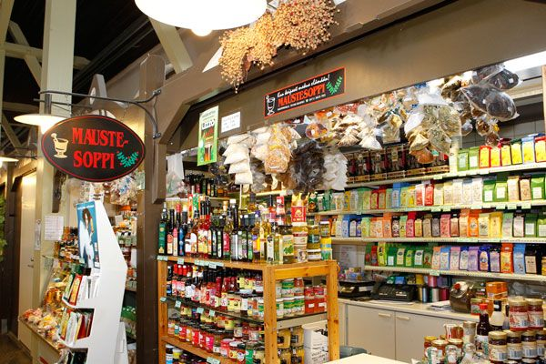 Maustesoppi spice vendor at Kuopio Market Hall.