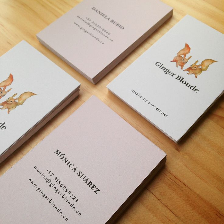 Business  cards by Ginger Blonde
