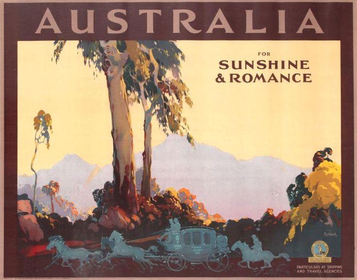 Travel Poster Australia for Sunshine and Romance