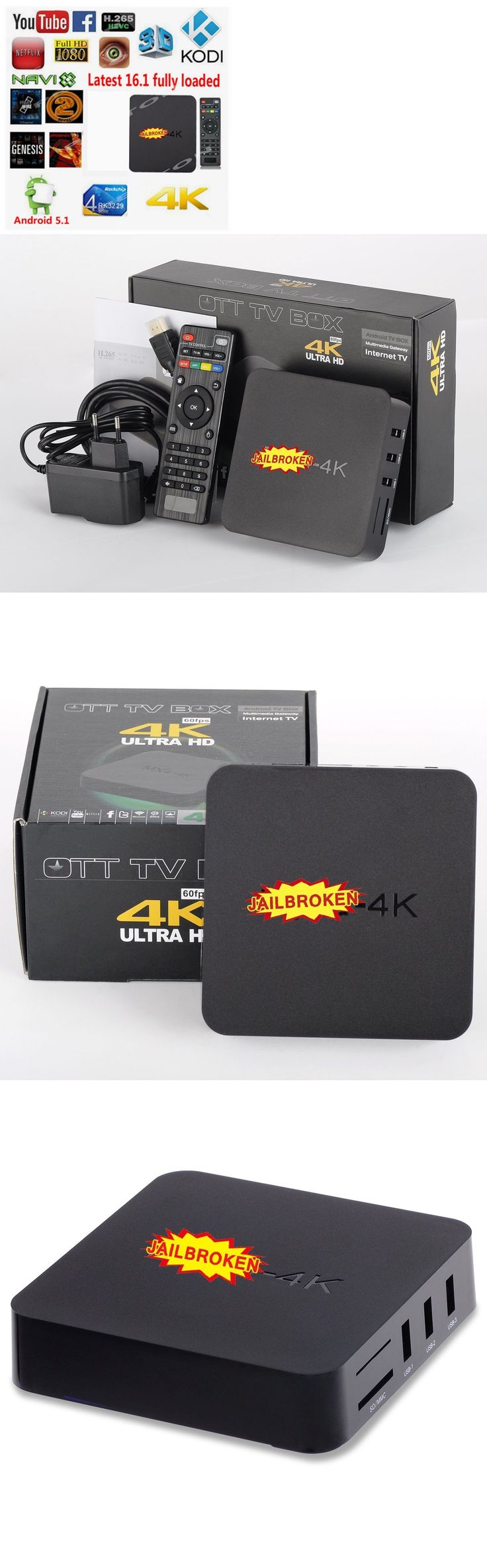 Internet and Media Streamers: Mxq 4K Android 5.1 Tv Box Kodi 16.1 Rk3229 Quad Core Hd Wifi Hdmi Media Player -> BUY IT NOW ONLY: $34.5 on eBay!