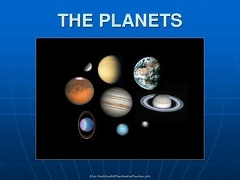 PowerPoint Presentation covering the planets in our solar system and Pluto as a dwarf planet.
