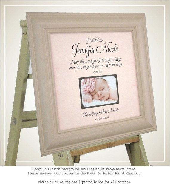17 best baby quotes images on pinterest baptism gifts baptism gift baby girl boy baby photo frame by photoframeoriginals negle Gallery
