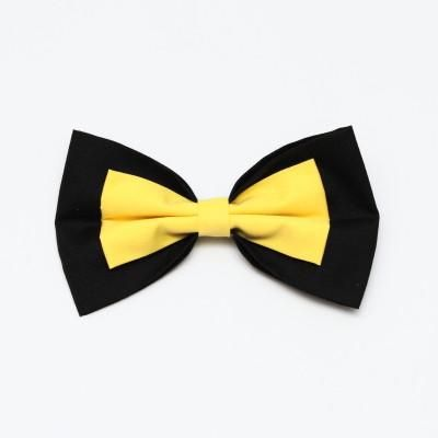 Black and Yellow Bow Large