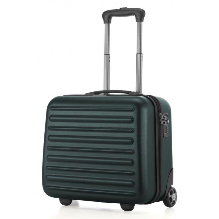 """Tegel - Pilotentrolley Pilotenkoffer mit Rollen - Waldgrün - Hartschale; Grüner #Trolley aus der Serie """"Tegel"""" von #Hauptstadtkoffer.  #Hartschalenkoffer #Handgepäck #Grün #Koffer #Travel #Luggage #Reisen #Urlaub #green #Hardcase #Pilotentrolley #Tegel => mehr grüne Koffer: https://hauptstadtkoffer.de/de/reisegepack/alle-produkte?color=137"""