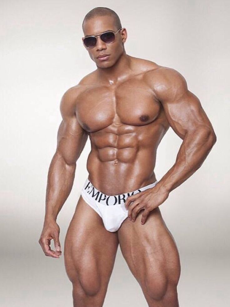 Extreme black muscle man gay anal fucking 3