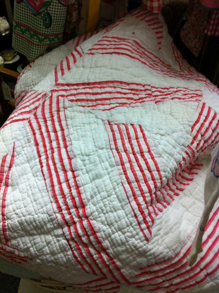 white vintage quilt - Google Search
