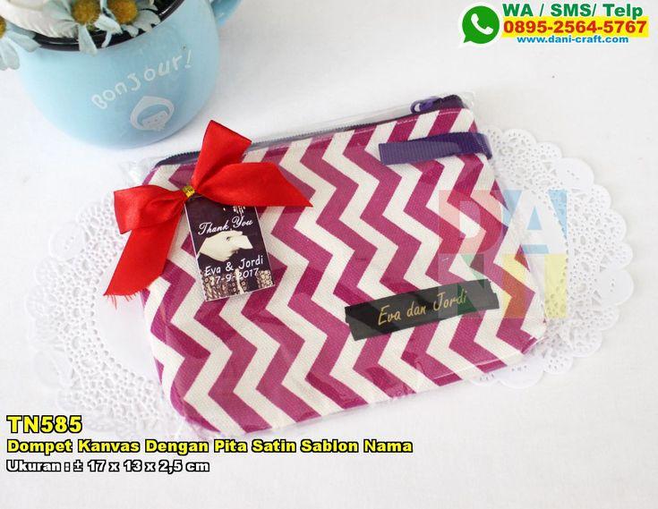 Dompet Kanvas Dengan Pita Satin Sablon Nama WA/SMS/TELP: 0899-5255-896 #DompetKanvas #PabrikKanvas #SouvenirPernikahanMurah