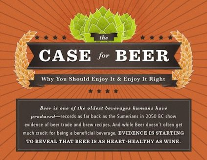 For my friend Lauren and my niece Suzy, I found this interesting and informative.   The Health Benefits of Drinking Beer, Illustrated.