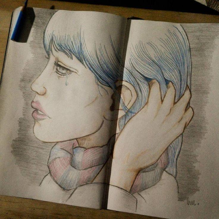 Winter's Blue by LittleMar. #Moleskine