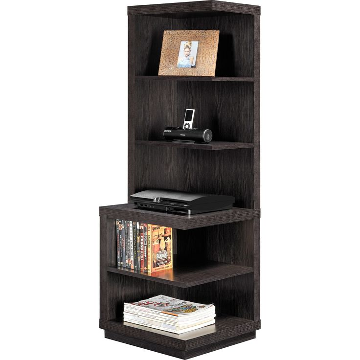 corner storage unit for living room. This espresso audio pier is the ideal place for your sound system  It s designed to 8 best corner shelf images on Pinterest Bookshelves Corner
