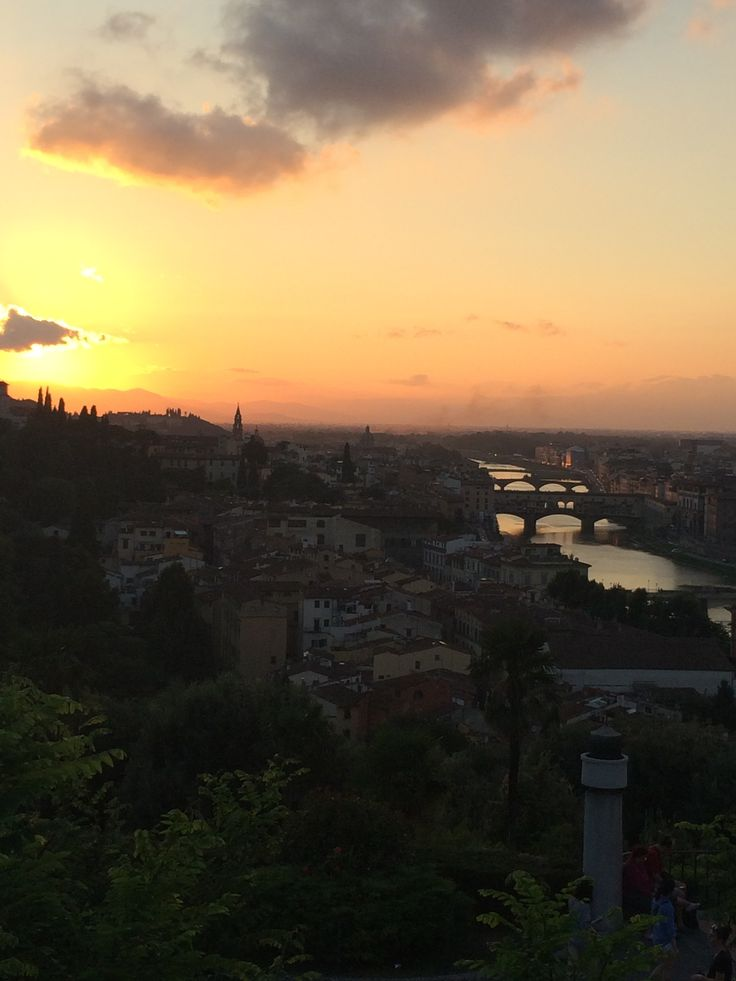 Sunset view from Piazzale Michelangelo, Florence