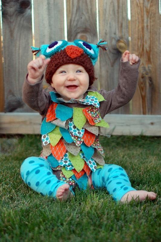 diy animal costume diy owl costume halloween - Baby Owl Halloween Costumes