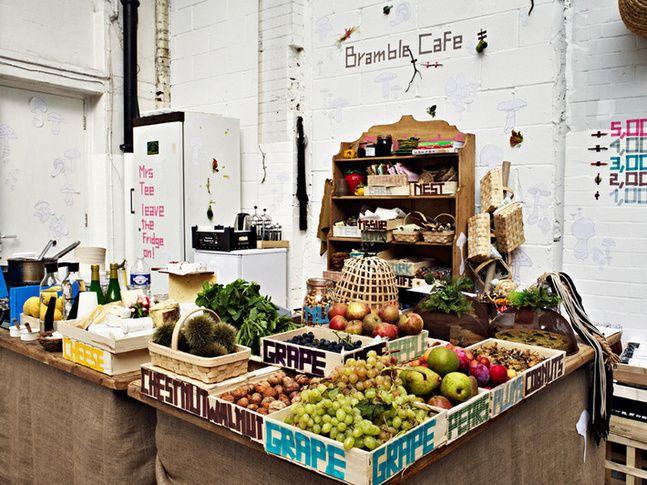 Brambles Cafe pop up at Super Natural, London Design Festival 2010 designed by Studio Toogood