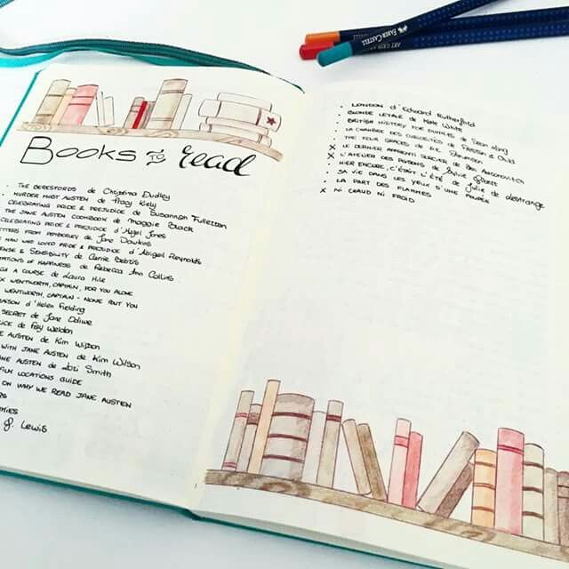 bullet journal: a books read page