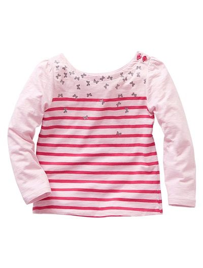 Girl's Long-Sleeved Slub Jersey Fisherman-Style Top  verbaudet £7