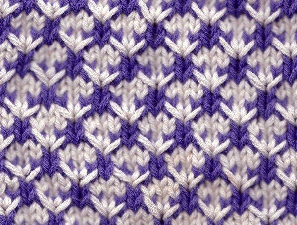 В копилку: двухцветный узор спицами.