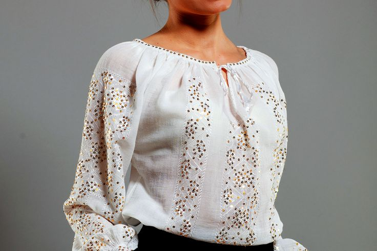 Romanian traditional blouse - handmande