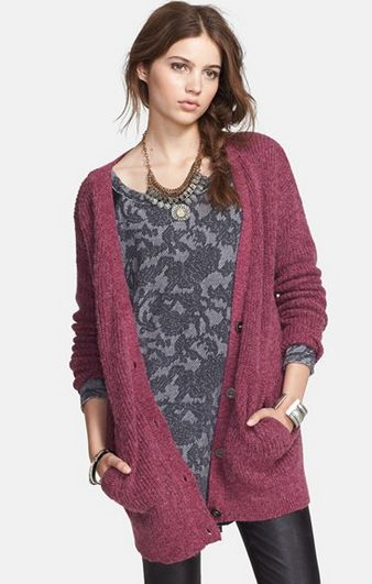 $74 Free People 'Cloudy Day' Long Cardigan + free shipping @ Nord Strom - Hot Deals