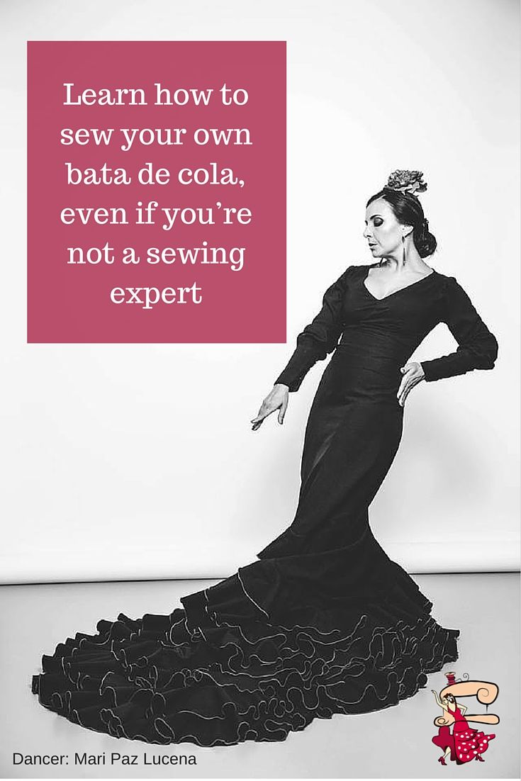 FREE eBook showing you step by step how to sew a bata de cola