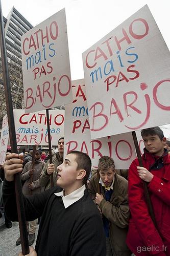 2013-01-13 Paris - Manif Pour Tous OFF - Scouts de Riaumont - Catho mais pas Barjo