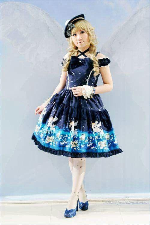 #Lolita #LolitaFashion #LolitaMode #LolitaStyle #JapaneseMode #Girl #Dress #Blue #HimeLolita #Kawaii #Cute