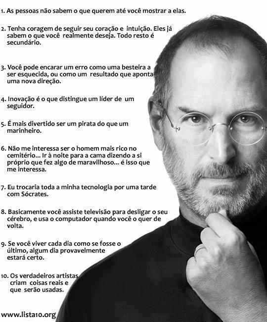 Confira as 10 Melhores Frases de Steve Jobs