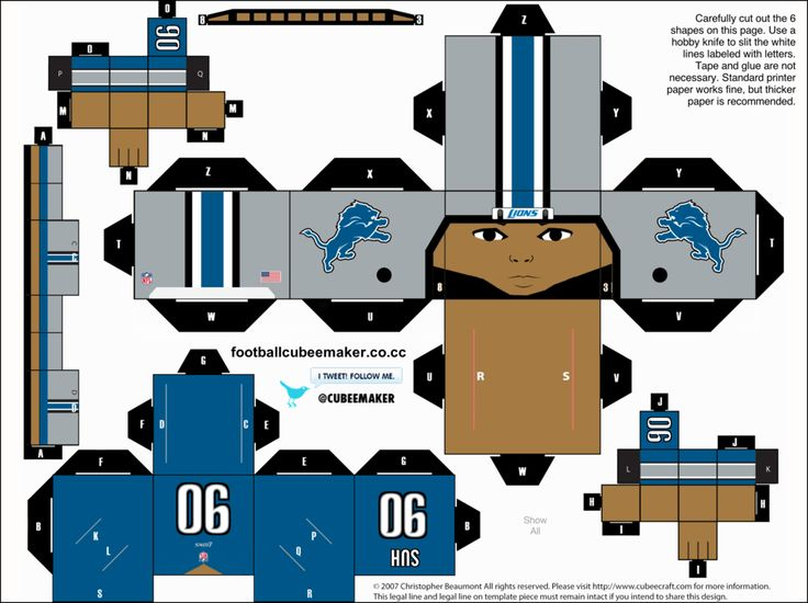 Ndamukong Suh Lions Cubee by etchings13 on DeviantArt