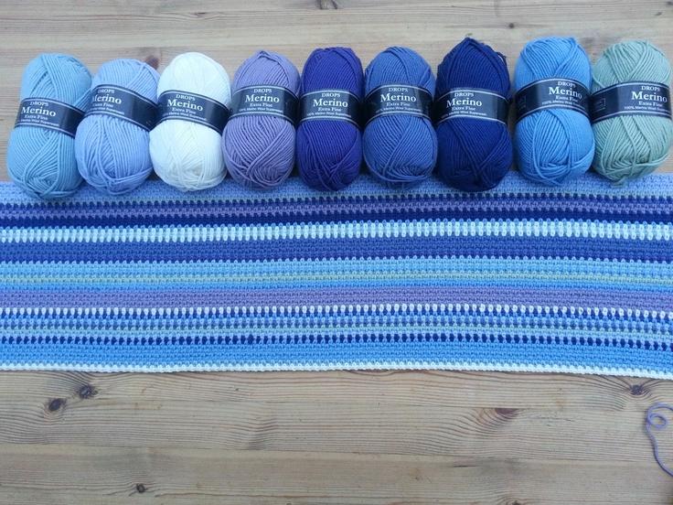 crochet afghan - sky blanket project?