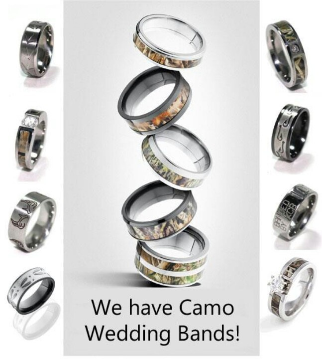 48 best country wedding rings images on Pinterest Camo wedding