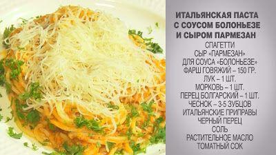 Вкусные домашние рецепты: Итальянская паста / Паста с соусом Болоньезе / Пас...