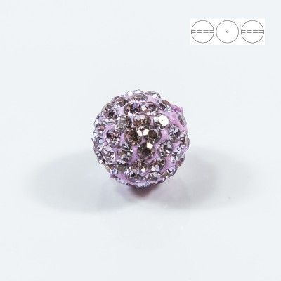 Discoball Bead 12mm Violet  Dimensions: 12mm Stones which were used in a ball are from Preciosa Company  1 package = 1 piece