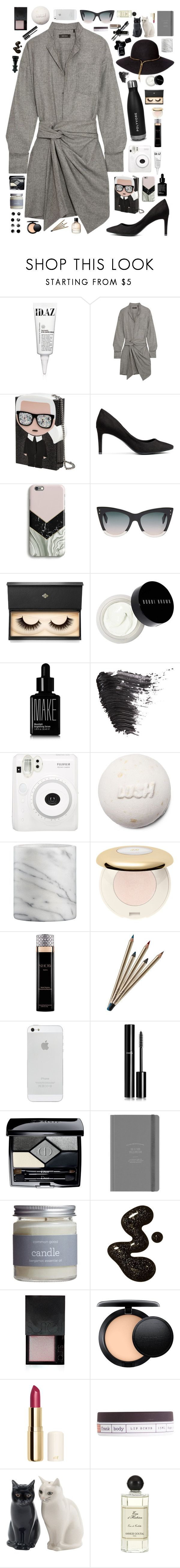 """""""I see you on the street some other time, and all our words would just fall out of line"""" by milky-siamese ❤ liked on Polyvore featuring ID.AZ, Isabel Marant, Karl Lagerfeld, Harper & Blake, Fendi, Lash Star Beauty, Bobbi Brown Cosmetics, Make, Topshop and Fuji"""