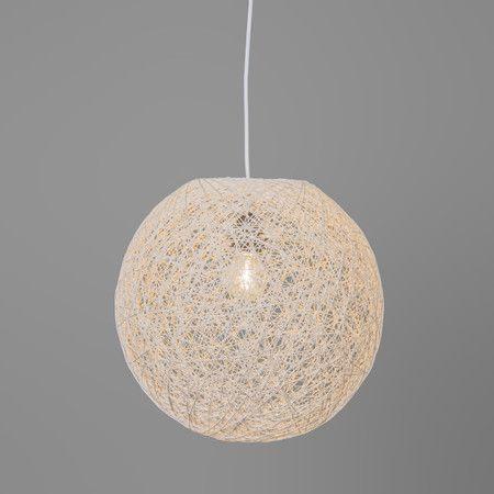 Hanglamp Corda 45 wit - Slaapkamerverlichting - Verlichting per ruimte - Lampenlicht.nl