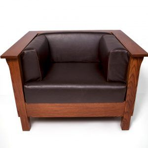 Stickley Mission Style Leather Sofa