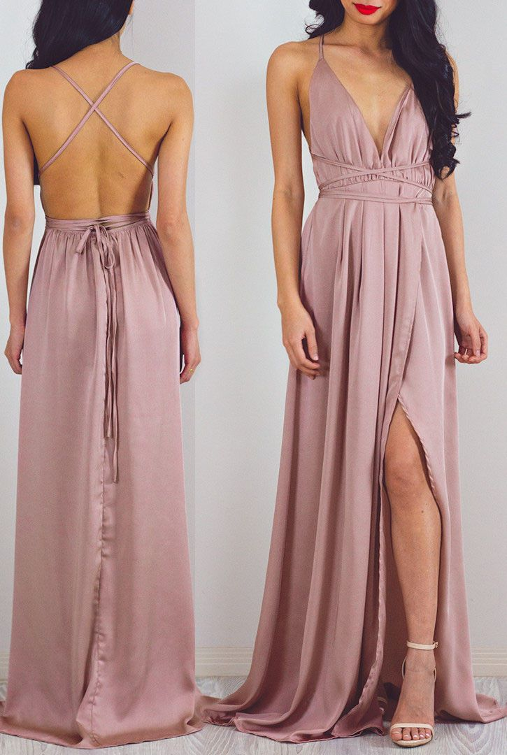 2017 prom dress, long prom dress, pink prom dress, formal evening dress