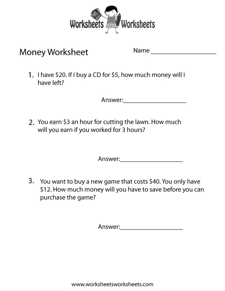 Best Money Worksheets Images On   Money Worksheets