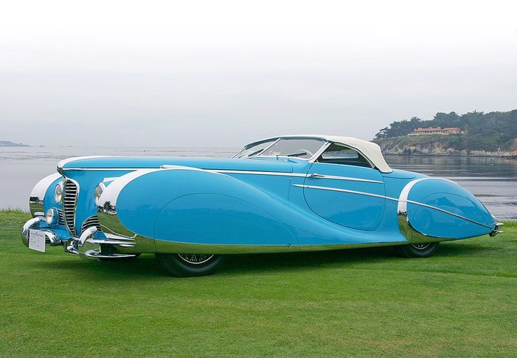 A gorgeous 1949 Delahaye 175S, of which no more than 51 were produced despite one winning the 1951 Monte Carlo Rally.