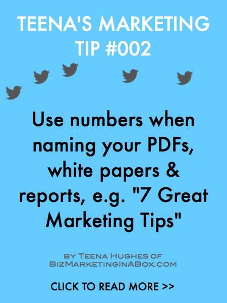 "People are attracted to certain numbers and ""7"" is one which has proven the test of time. It also helps make the reader think it's easy to accomplish as there are only 7 steps or things to do. Bonus Tip: Turn the steps into bullet points and use them as tweets."