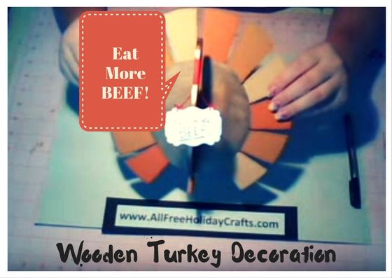 How to Make a Wooden Turkey Decoration
