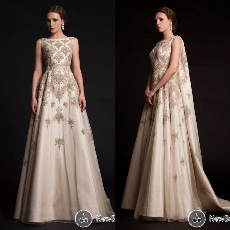 2015 Luxury Krikor Jabotian Evening Dress Newest Crew A-line Court Train Champagne Evening Gown with Cape Embroidery Work Robe De Soiree