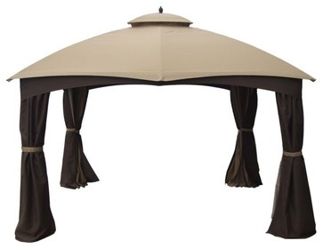 Allen + Roth Brown Steel Gazebo - asian - gazebos - Lowe's